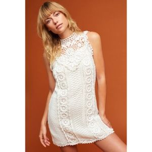 NWT ANTHROPOLOGIE Corey Calter Crochet Mini Dress